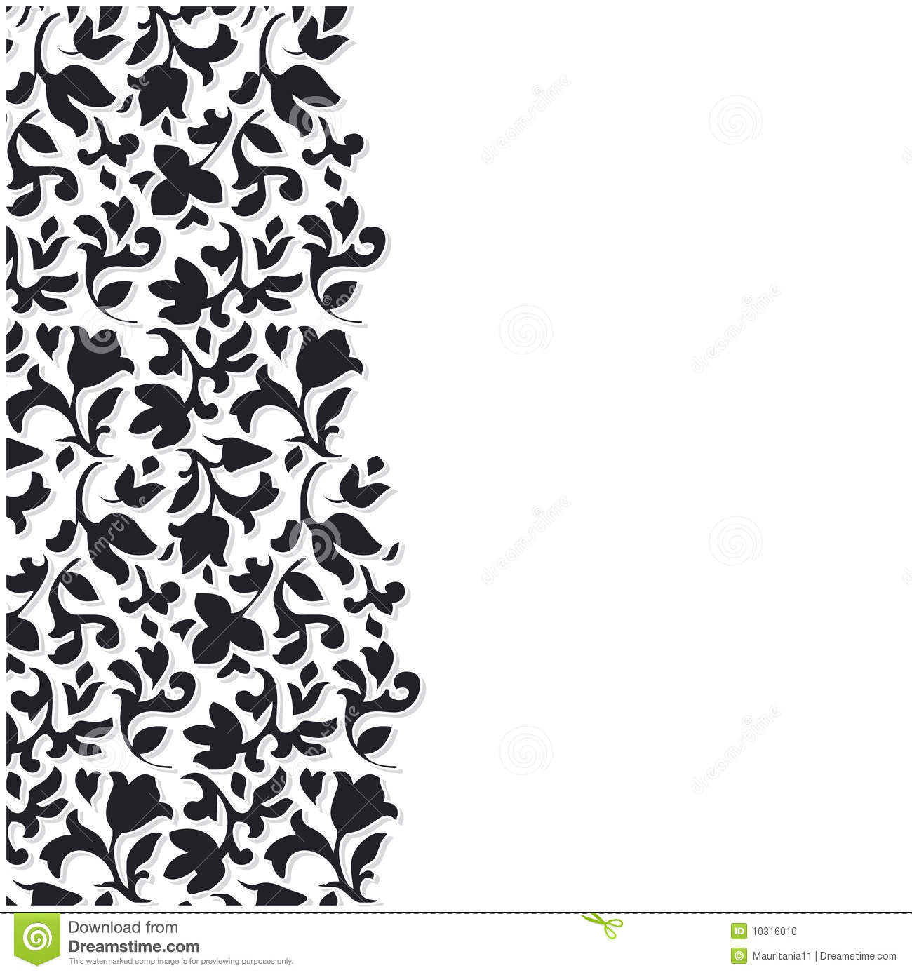 14 Black And White Floral Background Vector Images Black And White