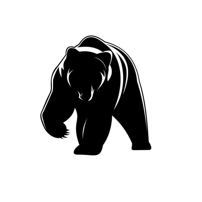 Black Bear Silhouette Vector