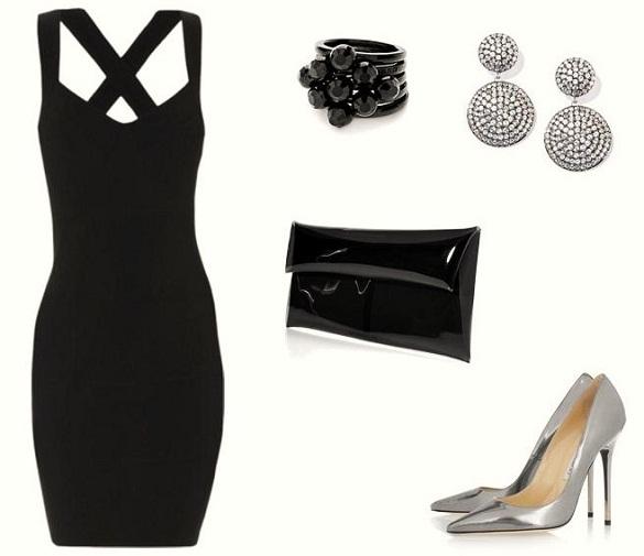 Black Dress Outfit Idea