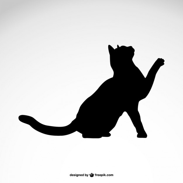 Black Vector Cat Silhouettes Free