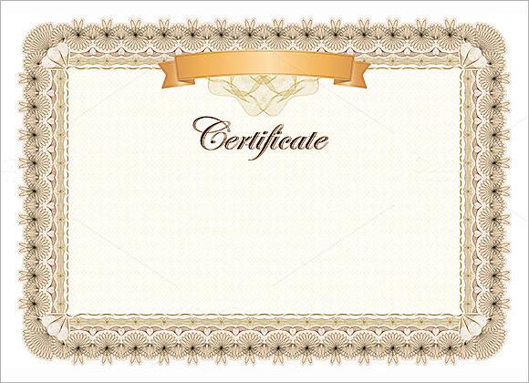 Blank Award Certificate Templates