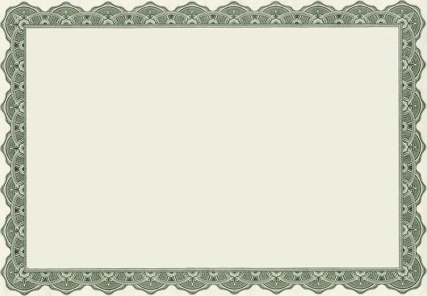 Blank Certificate Borders Templates Free