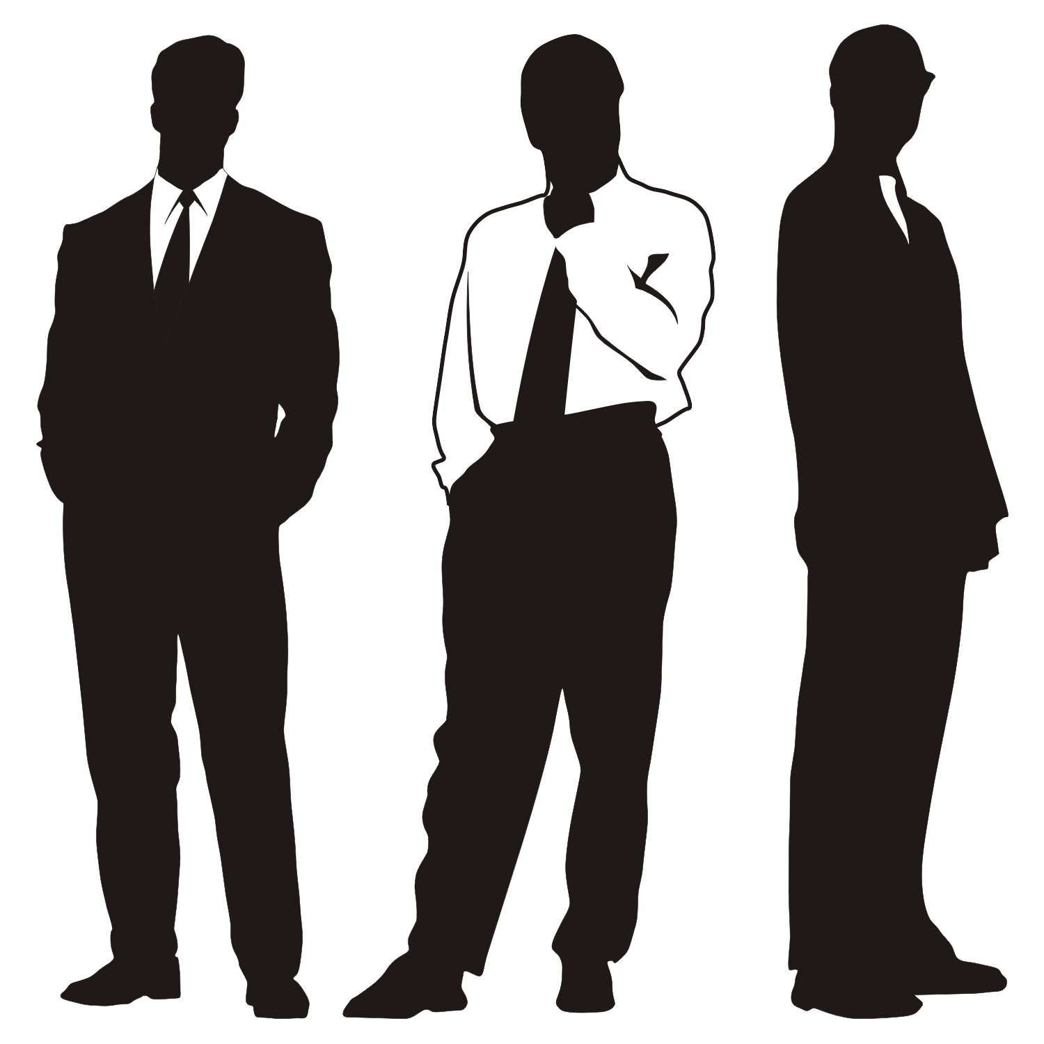 16 Person Silhouette Vector Images