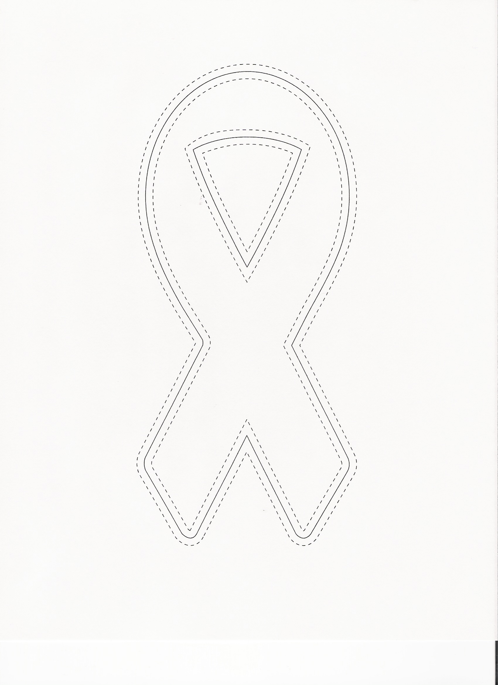 Cancer Ribbon Blank Template