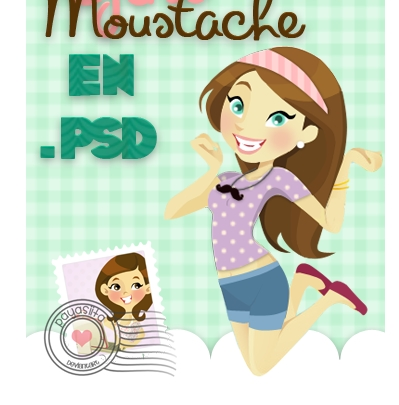 Cartoon Girl PSD