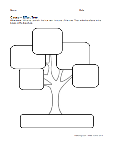Cause and Effect Graphic Organizer Printables