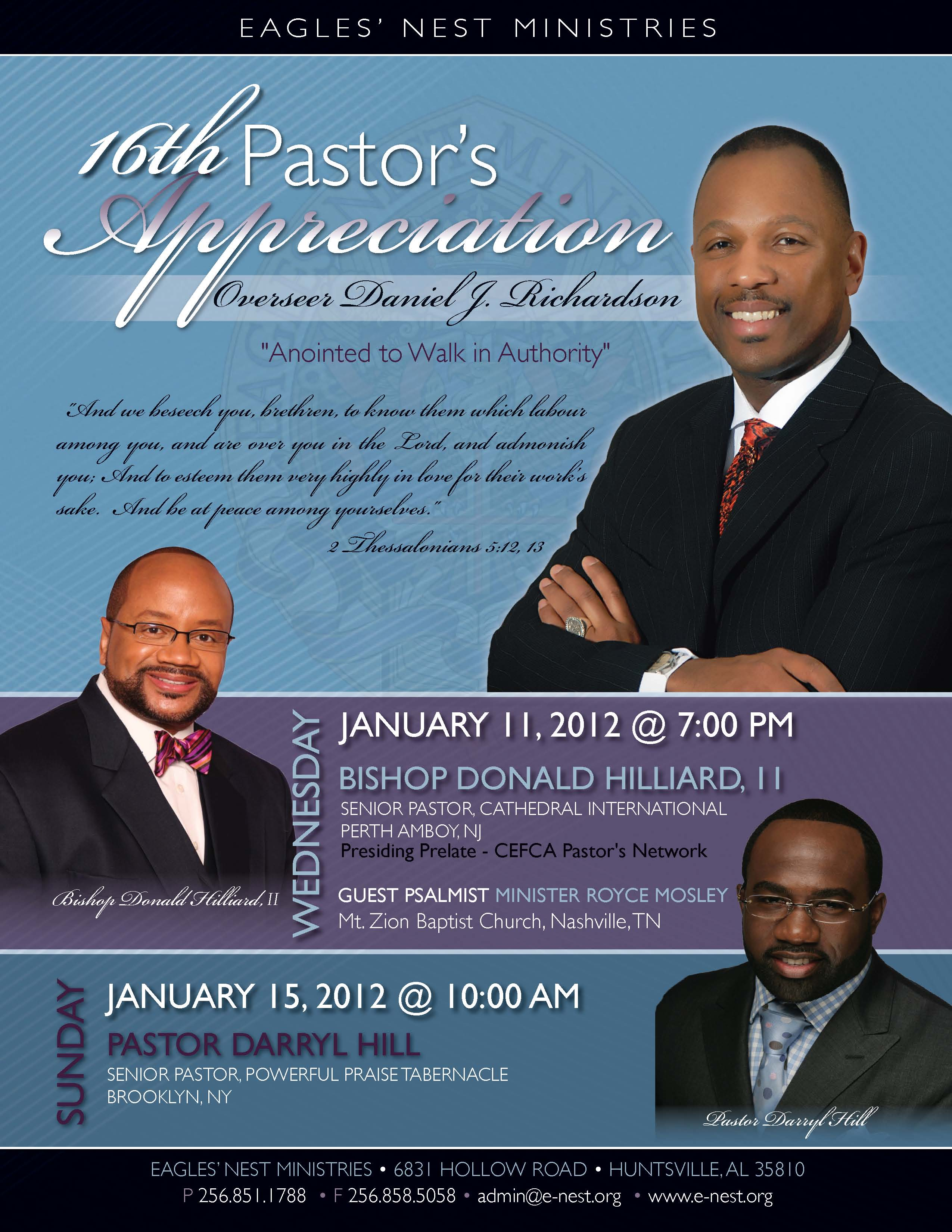 6 pastor anniversary flyer design images