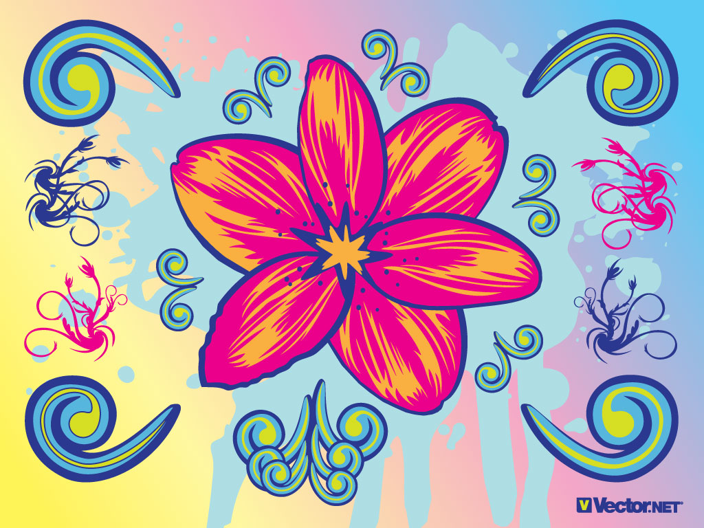 12 Graphic Design Flowers Clip Art Images
