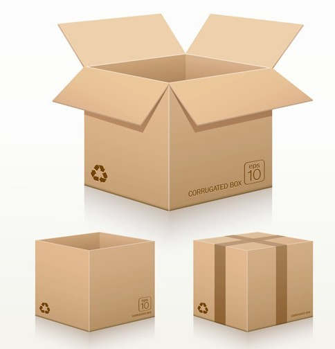 Corrugated Cardboard Box Template
