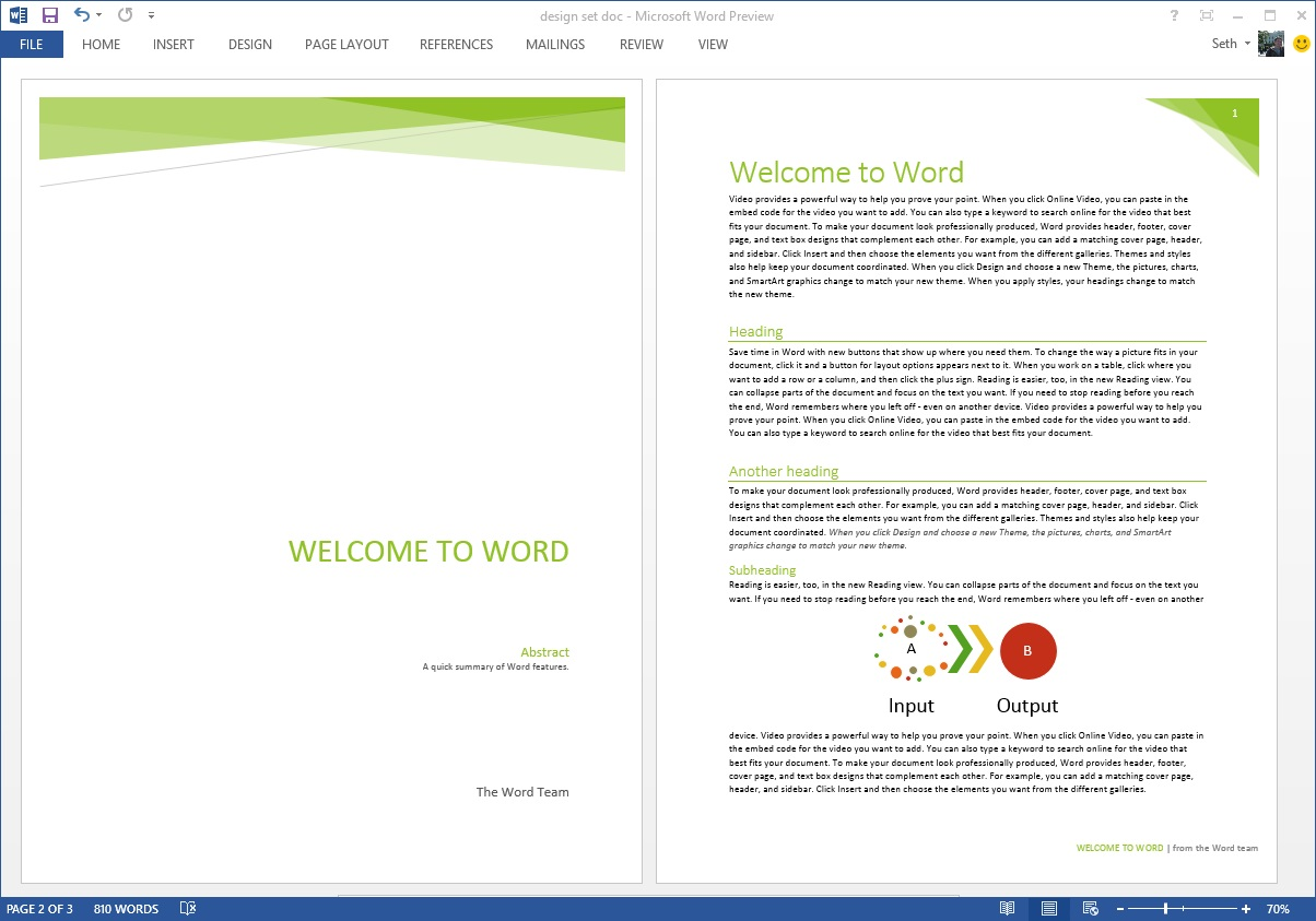 Cover Page Template Word Document