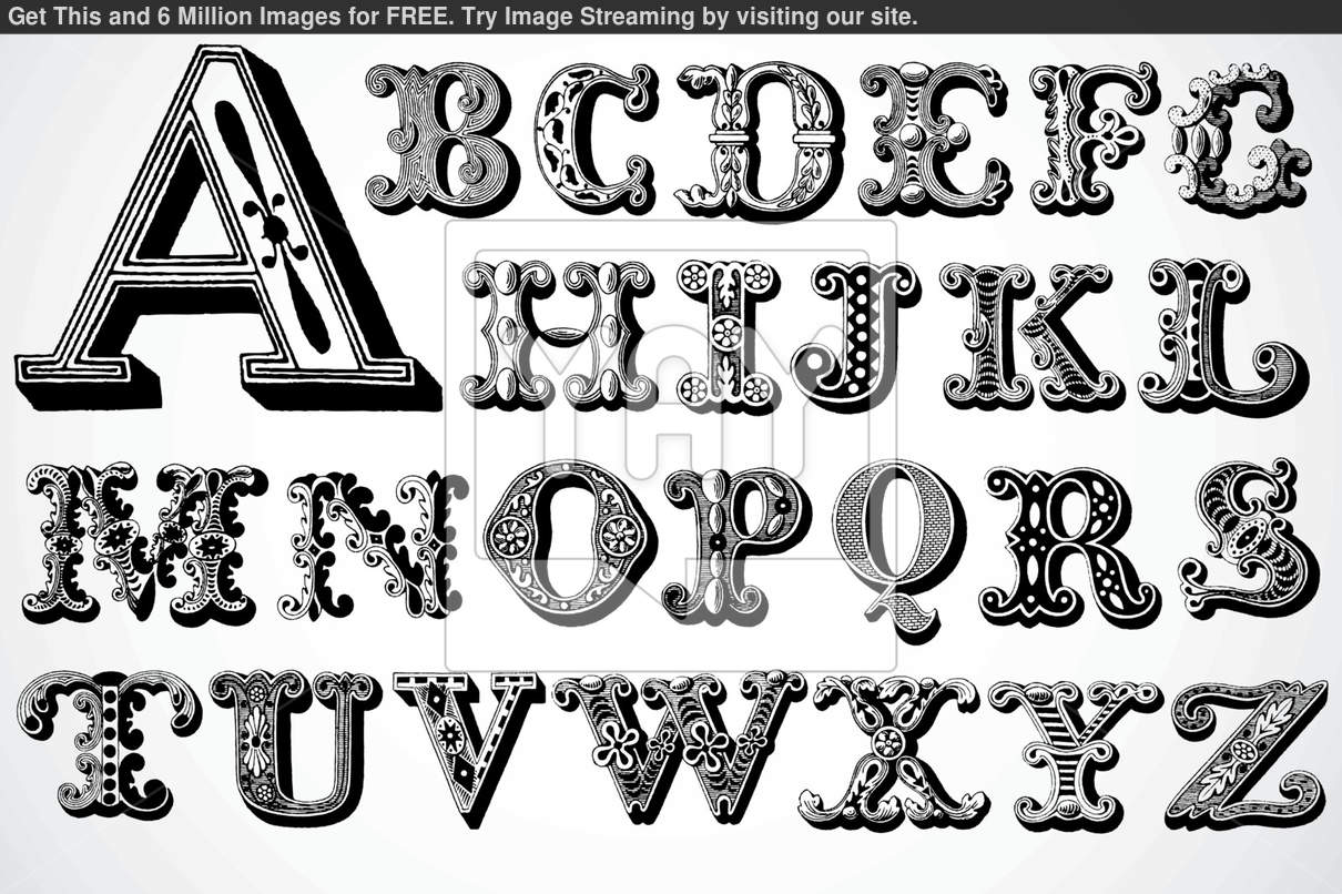 Decorative Letter Fonts