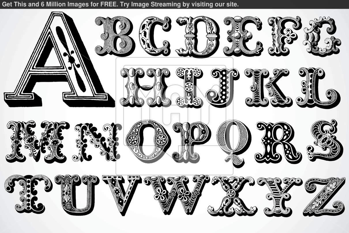 Decorative Letter Fonts