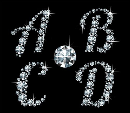 Diamond Shiny Letter Fonts Free
