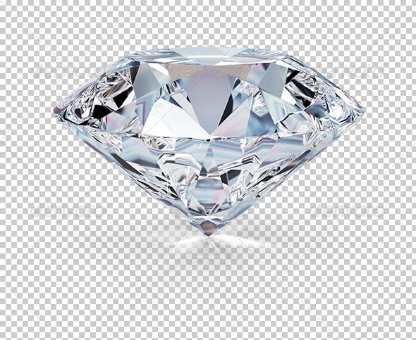 Diamond with Transparent