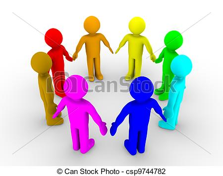 Different Colored People Clip Art