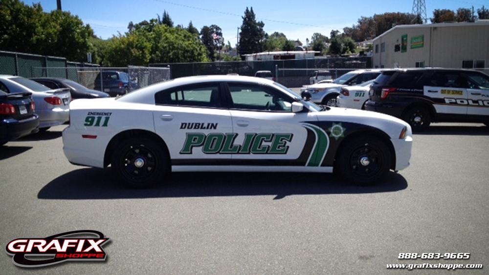 Dodge Charger Police Car Graphics