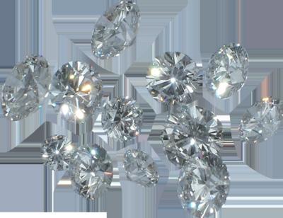 Falling Diamonds Transparent