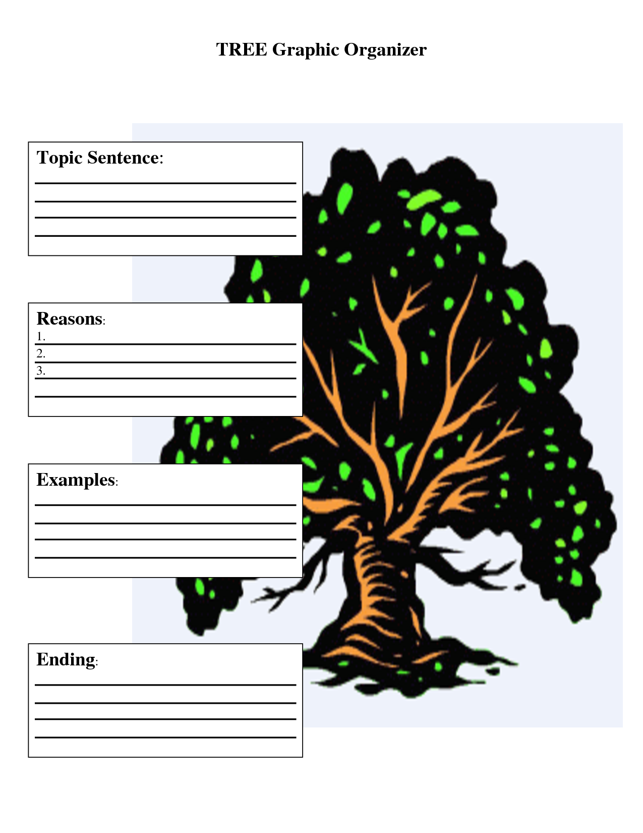13 Tree Graphic Organizer Template Images Idea Tree