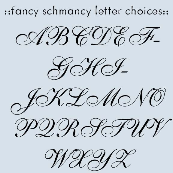 Fancy Letter Fonts Tattoo Lettering