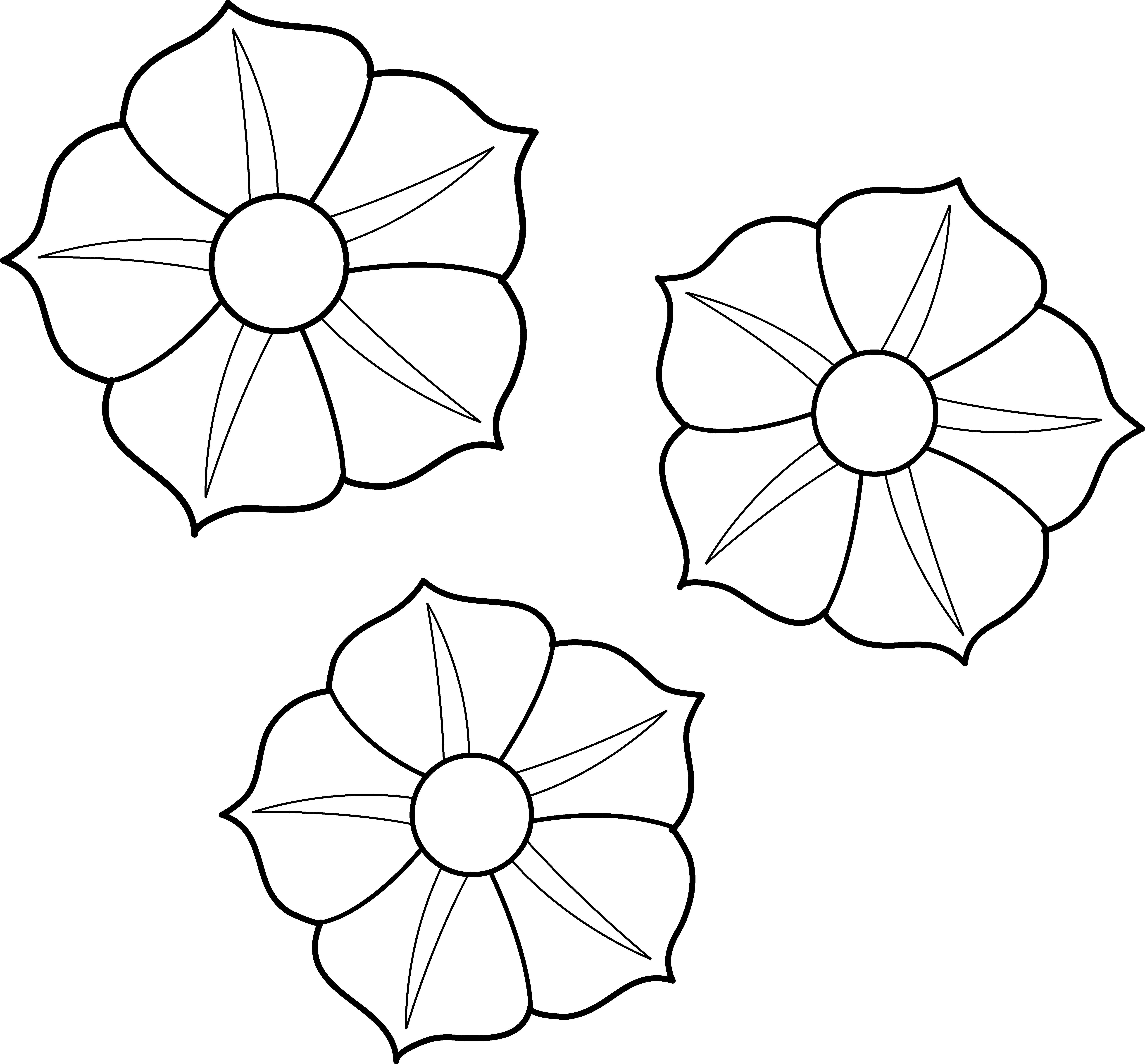 Flower Clip Art Coloring Pages