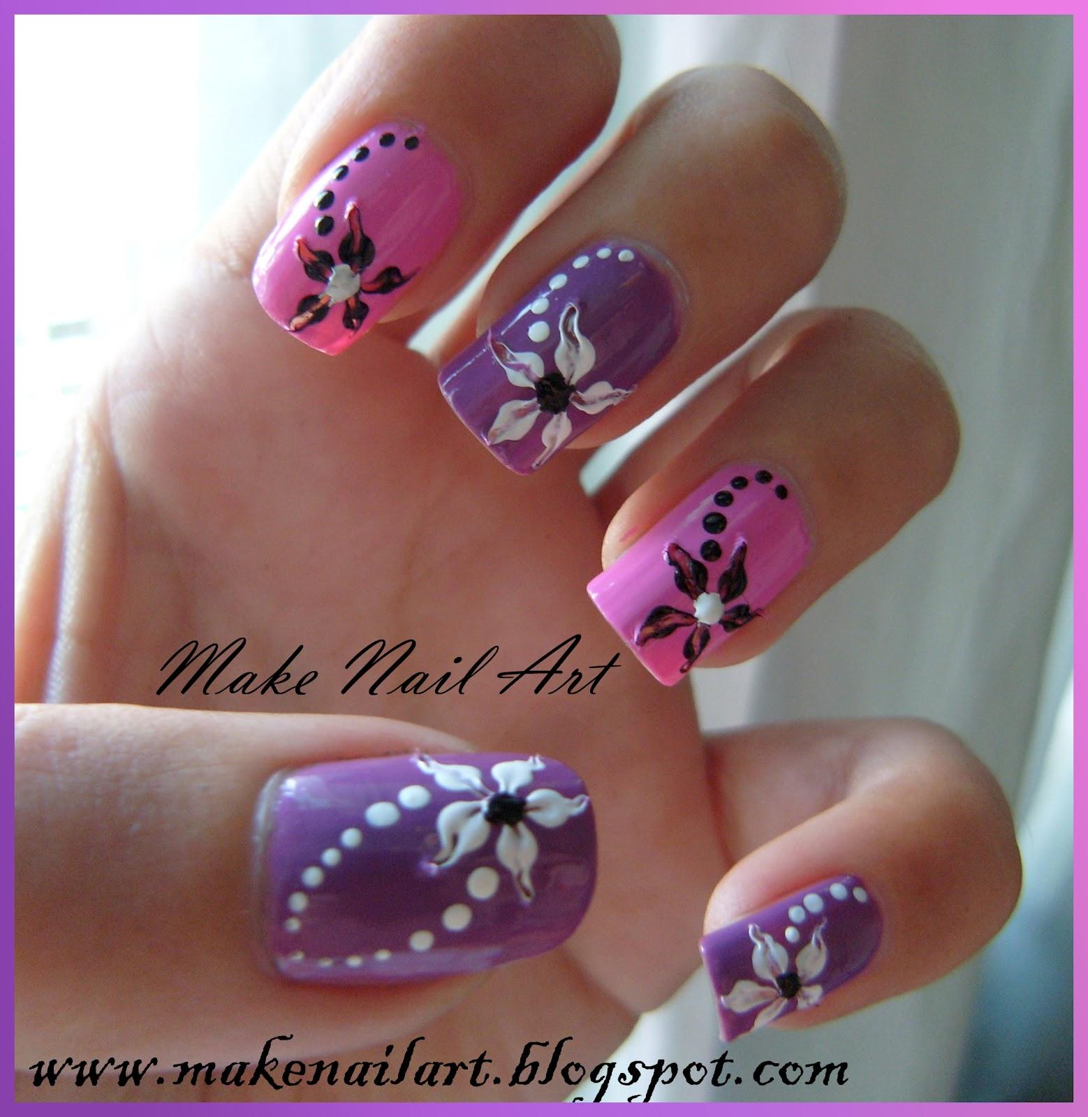 Flower Nail Art Tutorial