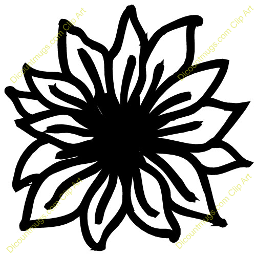 Flower Outline Clip Art Free