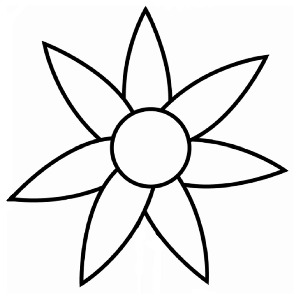 Flower Outline Coloring Pages