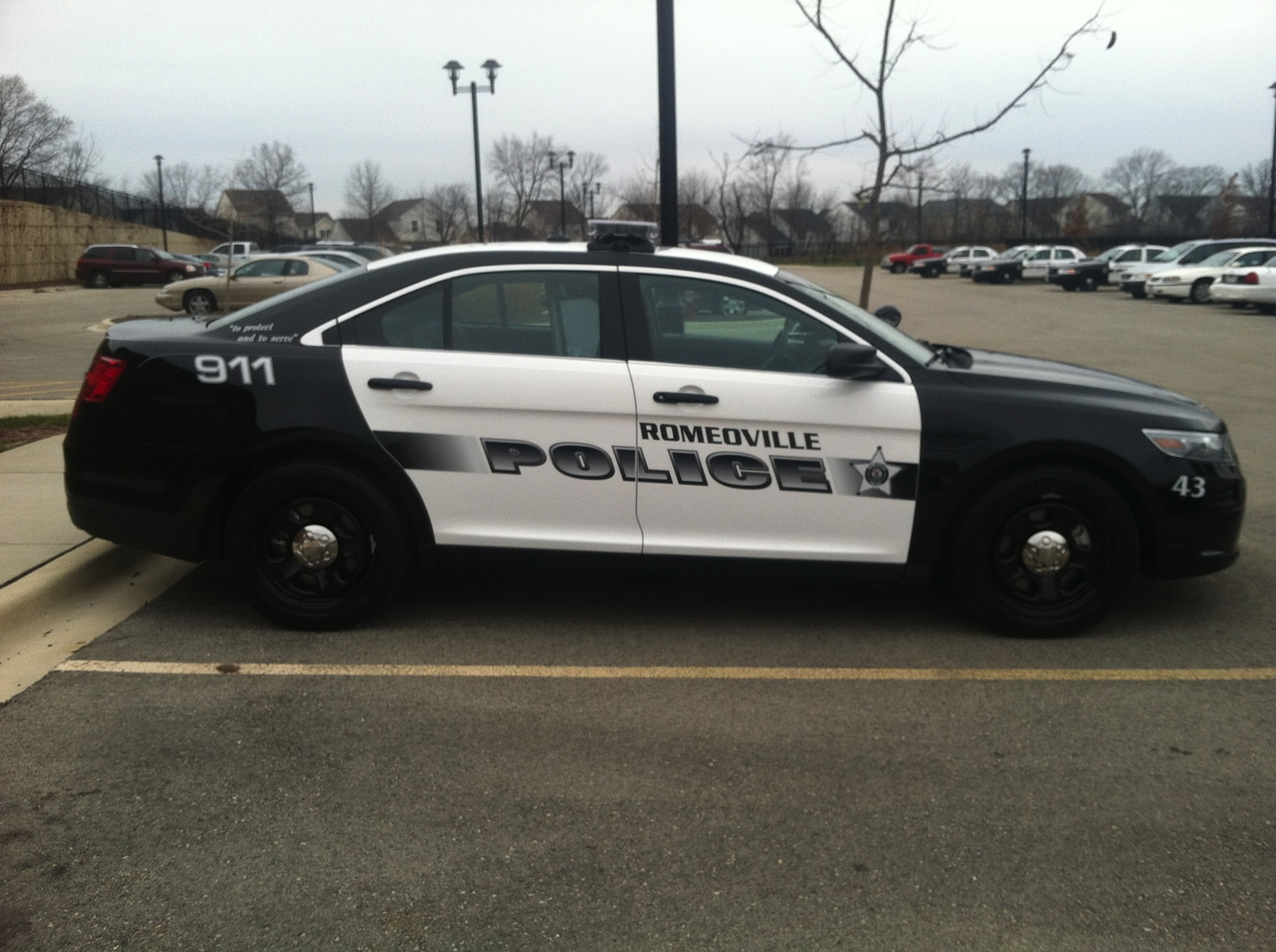 Ford Taurus Police Car Graphics