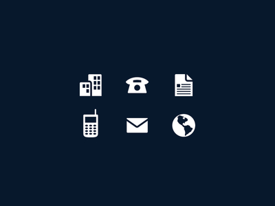 Free Business Card Icons
