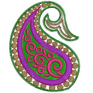 Free Paisley Embroidery Design