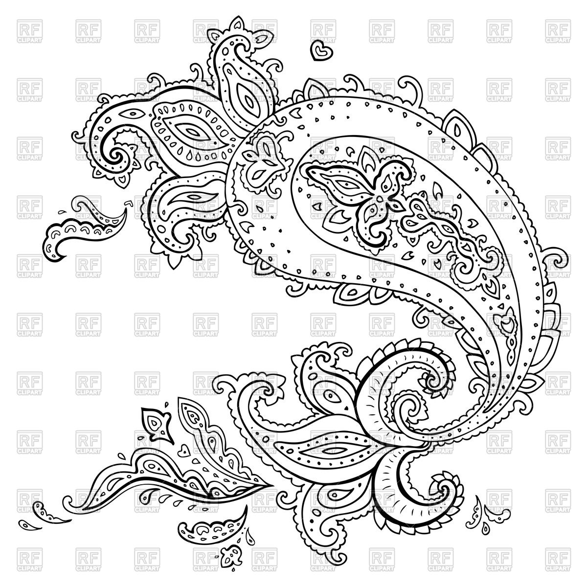 18 paisley designs free download images free paisley vector patterns vector paisley designs. Black Bedroom Furniture Sets. Home Design Ideas