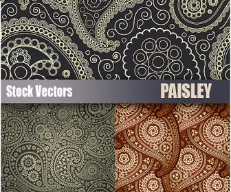 free paisley vector patterns