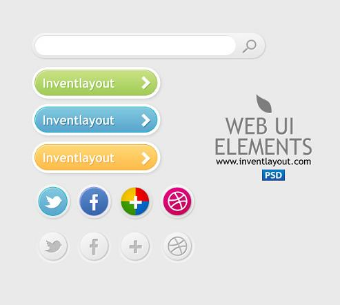 Free PSD WebElements