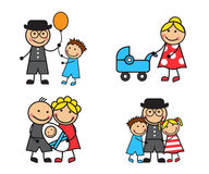 Free Stock Images of Cartoon Family