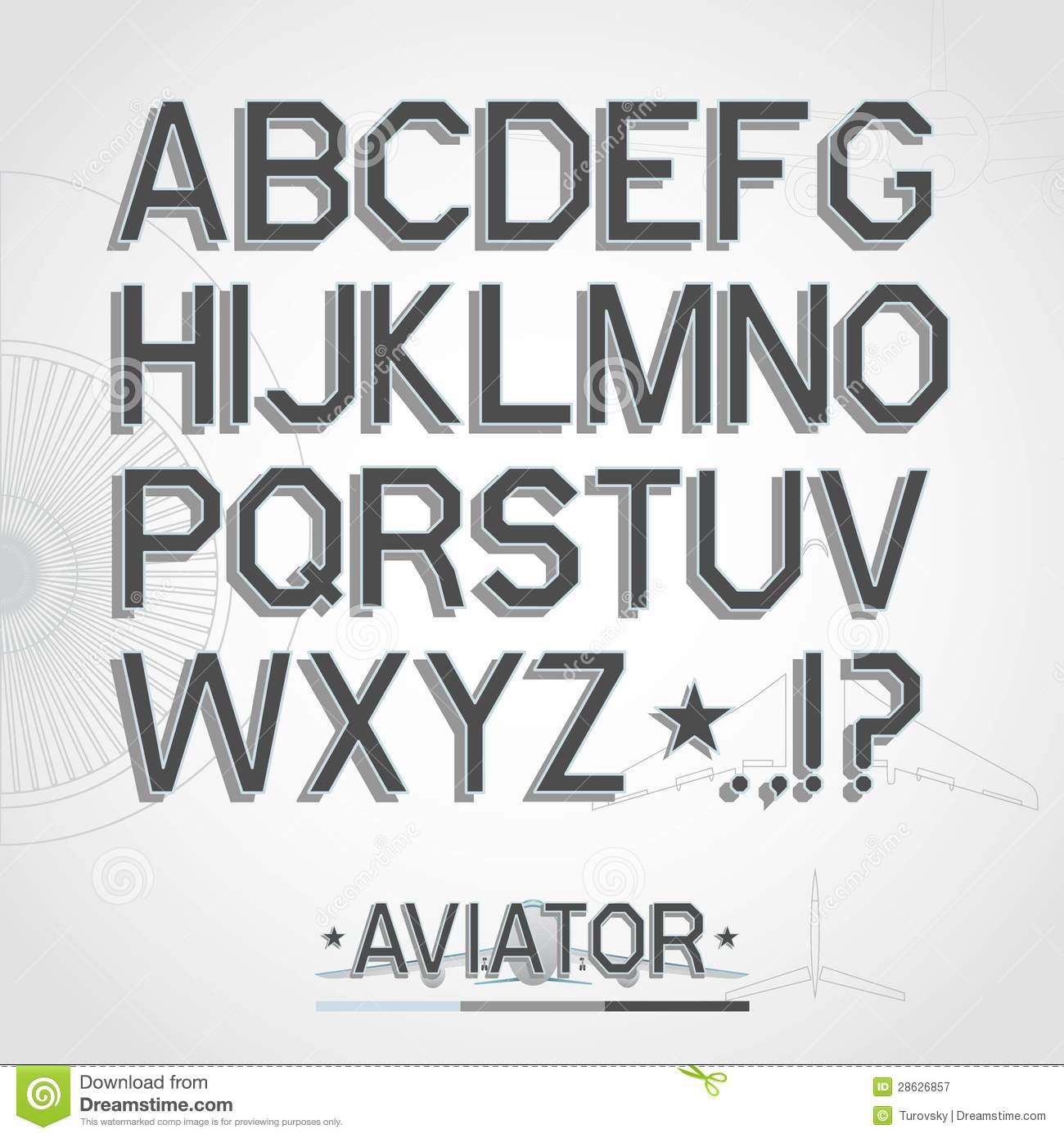 Free Vector Alphabet Fonts