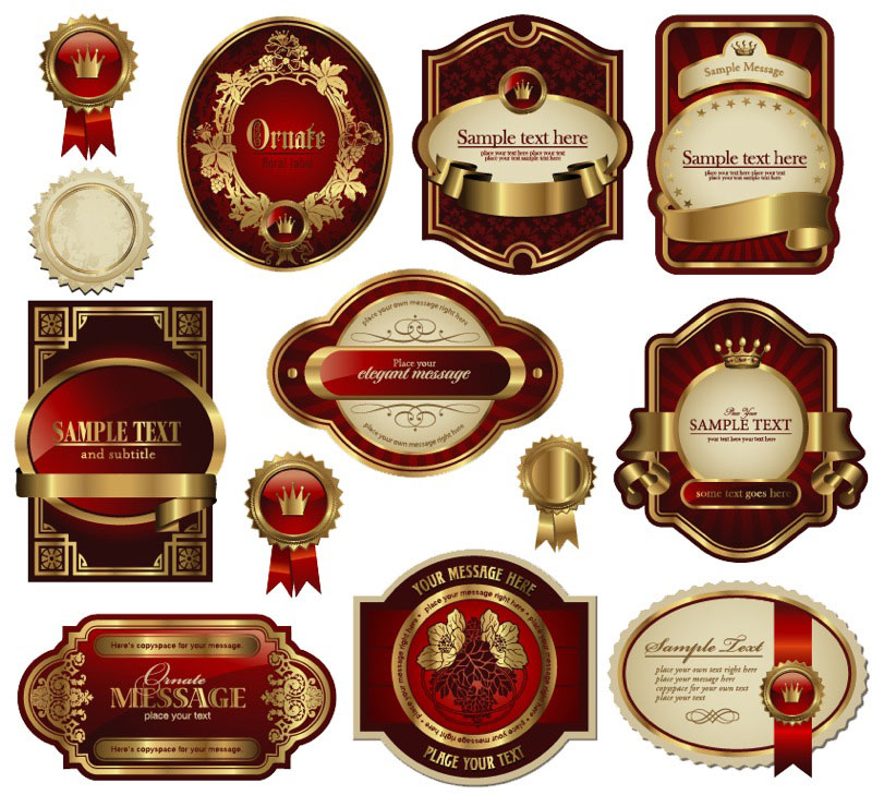 Free Vector Decorative Labels
