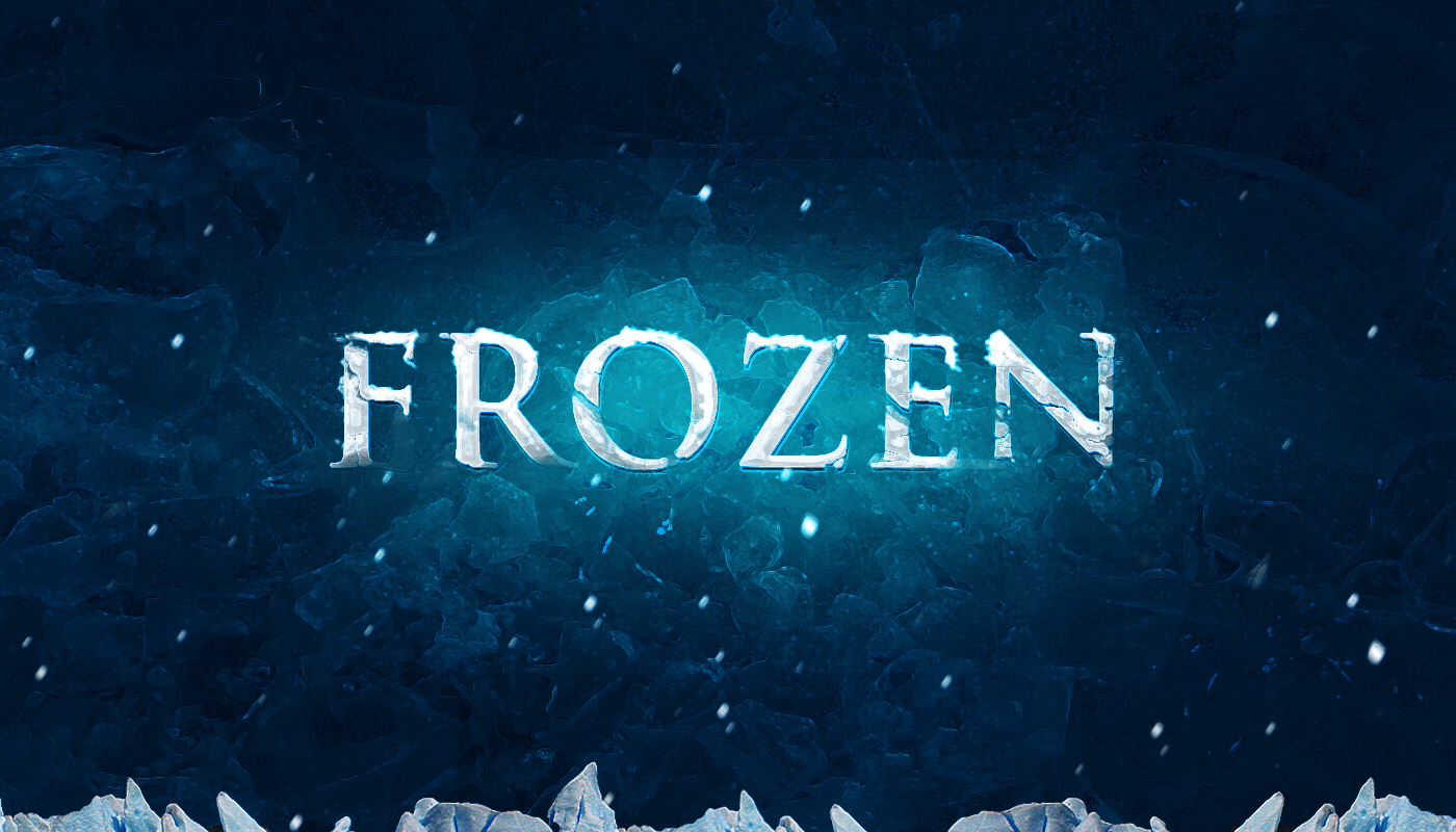 Frozen Text Effect Photoshop