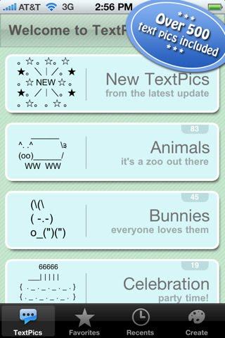 12 animal symbols font images art using text message
