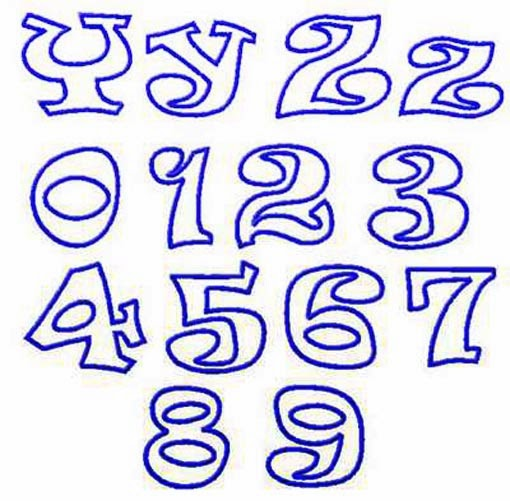 17 Colorful Cool Fonts Numbers Images