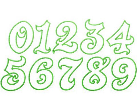 graffiti number bubble font