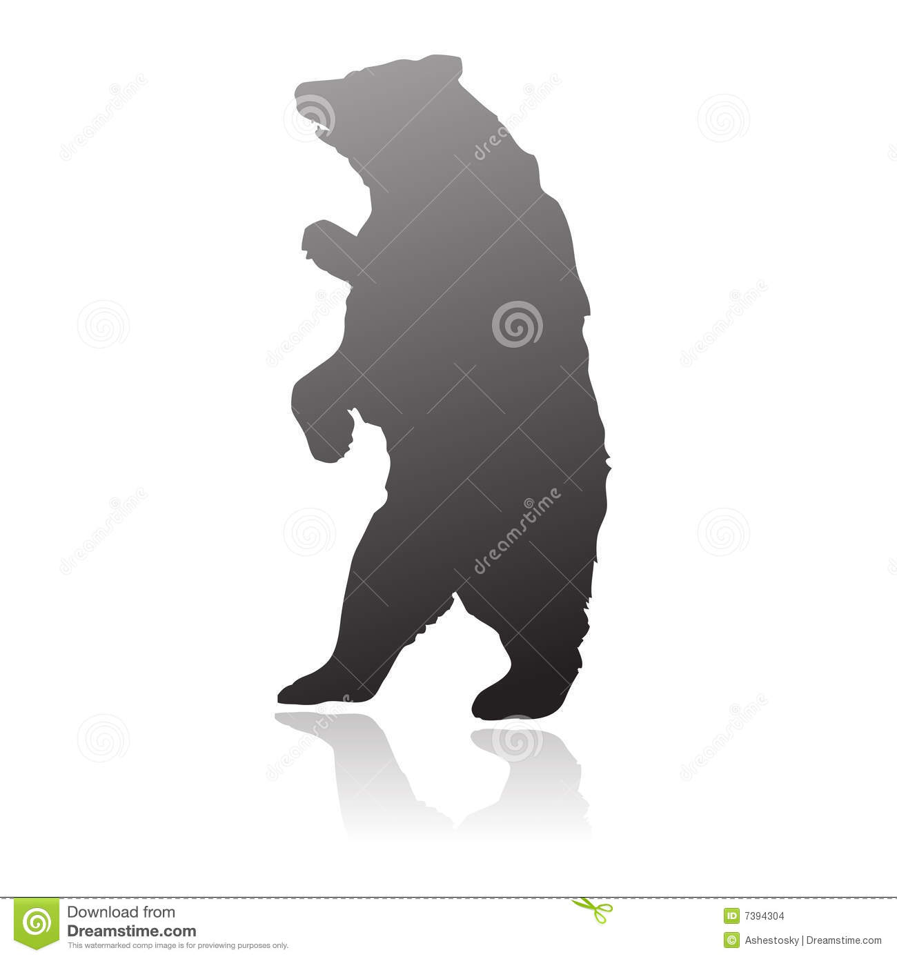 Grizzly Bear Standing Silhouette