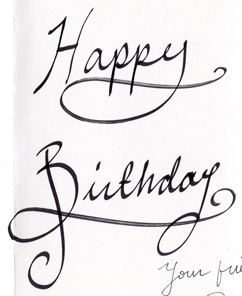Happy birthday font drawing images