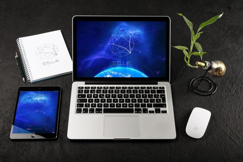 5 Retina MacBook Pro Mockup PSD Images