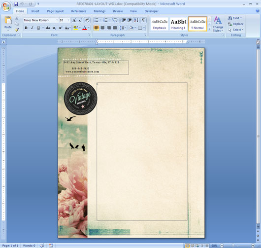 Microsoft Word Template Design