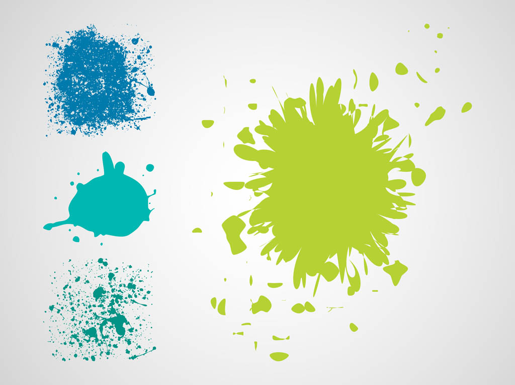 9 Paint Splatter Vector Images