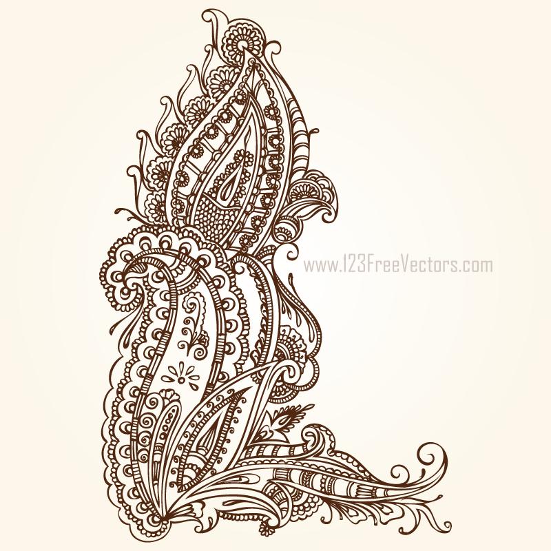 Paisley Design Clip Art Free