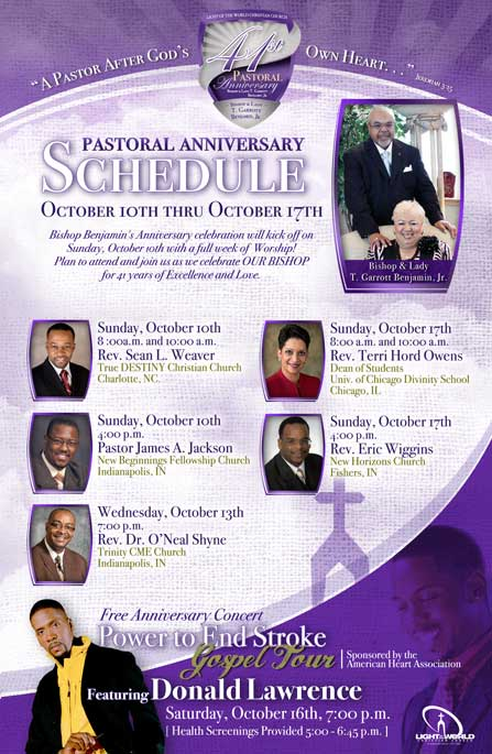 6 Pastor Anniversary Flyer Design Images