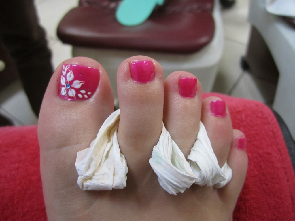Pedicure Nail Designs Flowers