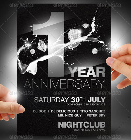 16 Free PSD Flyer Templates Anniversary Images - Anniversary Flyer