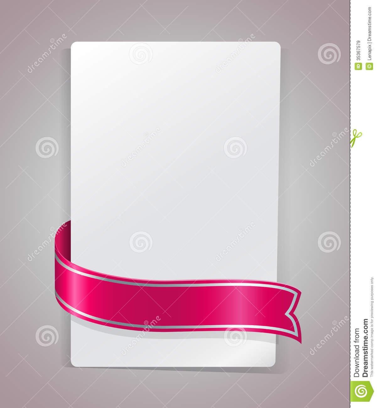 Pink Ribbon Blank Template